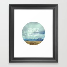 Mountains for Andrew Framed Art Print