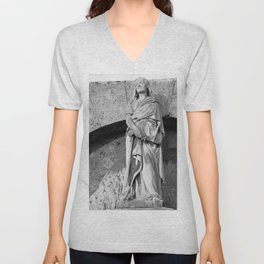 female statue Unisex V-Neck