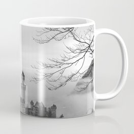 Black and White Neuschwanstein Castle Coffee Mug