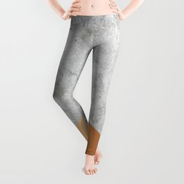 Geometric Concrete Arrow Design - Rose Gold #147 Leggings