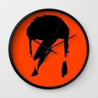 bowie Wall Clocks featuring BOWIE by eve orea