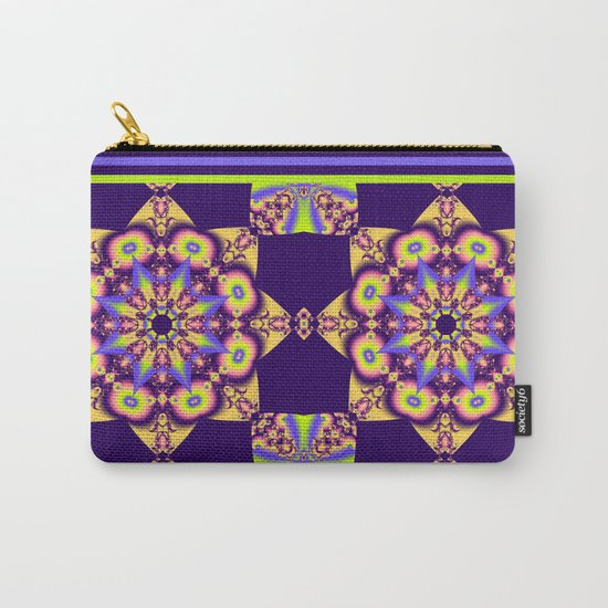 Decorative double star kaleidoscope Carry-All Pouch