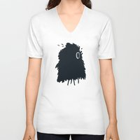 furry V-neck T-shirts featuring furry by alex eben meyer