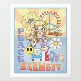 peace n love Art Print