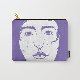A Freckled Girl in a Bath Carry-All Pouch