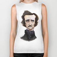 edgar allen poe Biker Tanks featuring Poe by Vito Quintans