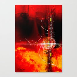 Flaming Texture Canvas Print