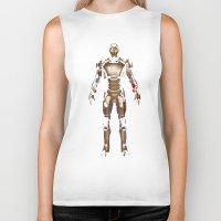 iron man Biker Tanks featuring Iron Man  by George Hatzis