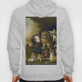 Classical Masterpiece 1833 'A Peaceable Kingdom' by Edward Hicks Hoody