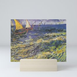 Vincent van Gogh - Fishing Boats at Saintes-Maries Mini Art Print