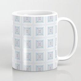 Modern Life Pattern Mauve Blue Coffee Mug