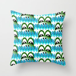 frog pattern Throw Pillow