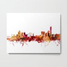 Manchester England Skyline Metal Print