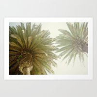 palm trees Art Prints featuring Palm Trees by The ShutterbugEye