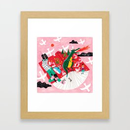 adventure out of a book Framed Art Print