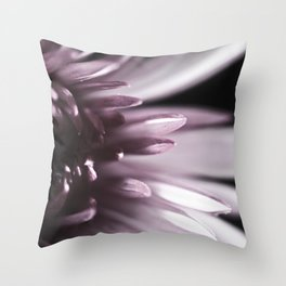 Macro Flower, Pink Dahlia Throw Pillow