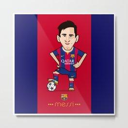 Lio Messi - Barcelona v2 Metal Print