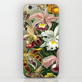 Vintage 1865 Botanical Orchids iPhone Skin