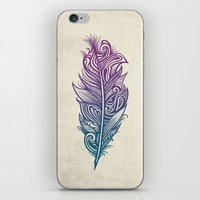 supreme iPhone & iPod Skins featuring Supreme Plumage by Rachel Caldwell