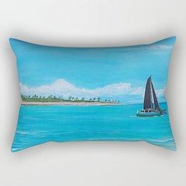 Black Sails Catamaran Rectangular Pillow