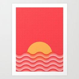 Patterned 3B Art Print
