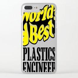 World's best plastics engineer Clear iPhone Case
