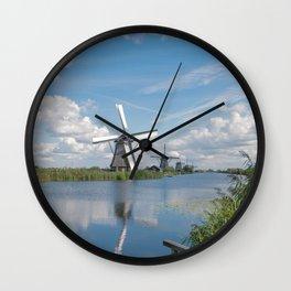 Kinderdijk Windmill Wall Clock