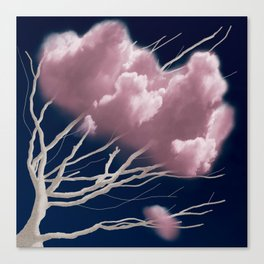 Tree of Pink Clouds Canvas Print