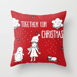 Together for Christmas Throw Pillow