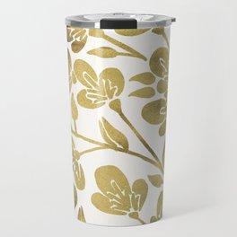 Cherry Blossoms – Gold Palette Travel Mug