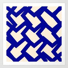Blue Mellow Art Print