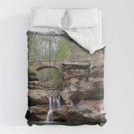 Photo USA Hocking Hills State Park Crag bridge Nature Waterfalls Rock Cliff Bridges Comforters