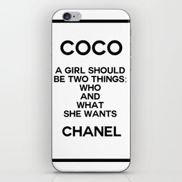 coco quote no. 5 iPhone Skin