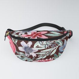 Moody Florals in Watercolor Fanny Pack