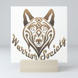 Warrior Society (Wolf) Mini Art Print