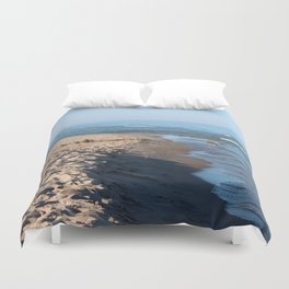 Sand Castle by the Lake Duvet Cover