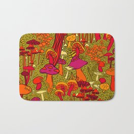 Mushrooms in the Forest Bath Mat