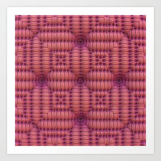 Woven - Rose/Magenta Art Print