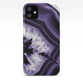 Ultra Violet Agate Chic #1 #gem #decor #art #society6 iPhone Case