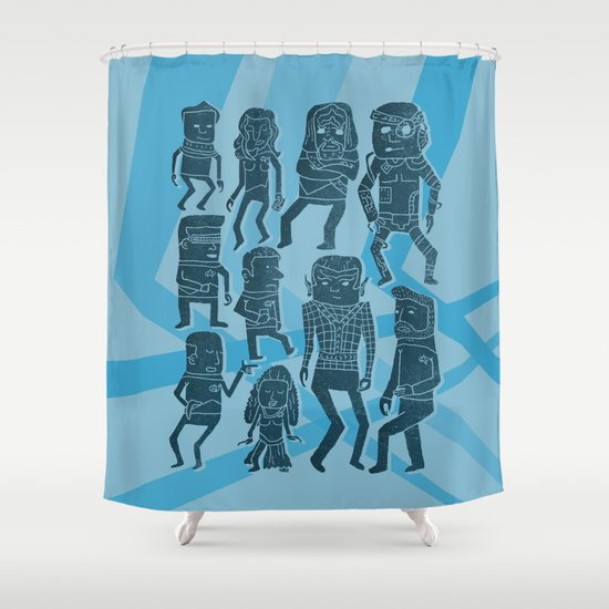 Holodeck Shower Curtain