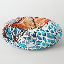 Modern basketball art 3 Floor Pillow