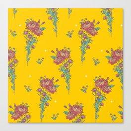 chrysanthemum_yellow Canvas Print