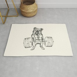 English Bulldog Lift Rug