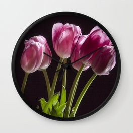 The Perennial Tulip Flowers Wall Clock
