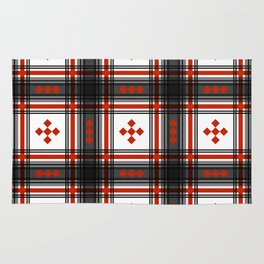 Preppy Plaid in Black and Red Rug