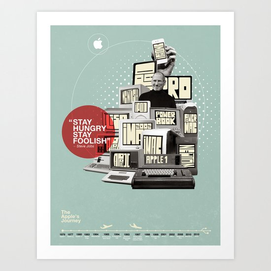 The Apple Story Art Print