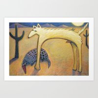 coyote Art Prints featuring Coyote by Bryan Dechter