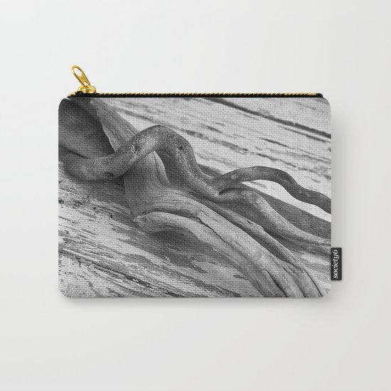 weathered driftwood black and white Carry-All Pouch