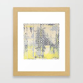 Sunday Morning - psychedelic graphic Framed Art Print