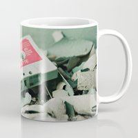 old school Mugs featuring Old School  by Riot Jane